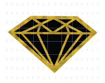 Diamond SVG Cut File vinyl decal for silhouette cameo cricut iron on transfer on mug shirt fabric design for all ages