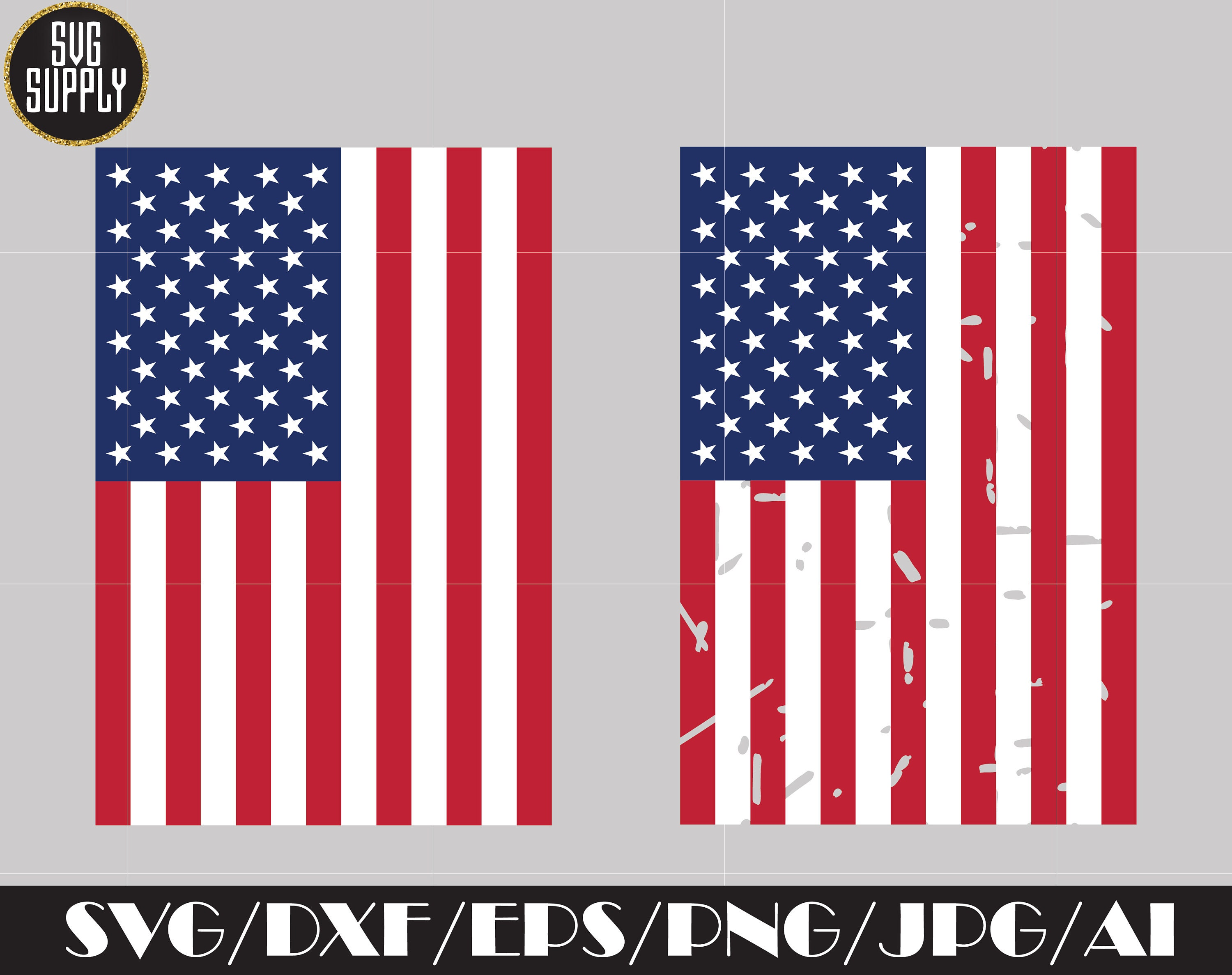 American Flag Distressed Svg 4th Of July Svg Patriotic Day Etsy