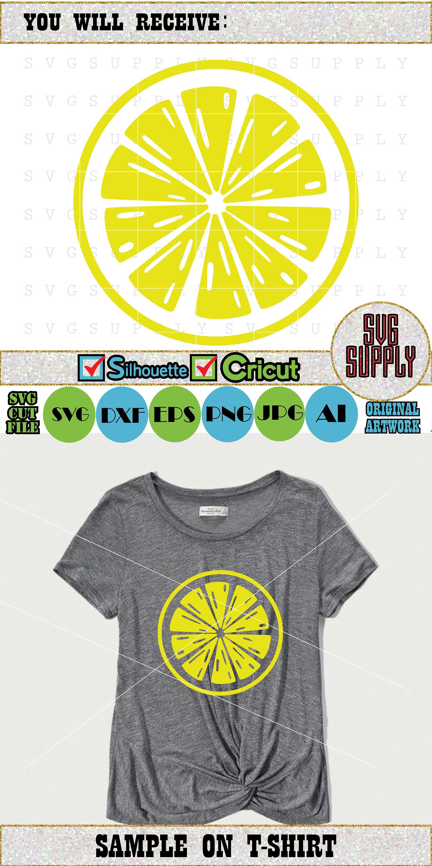 Lemon SVG Lemon cut file vinyl decal for silhouette cameo