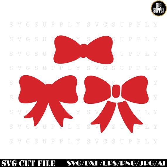Bow Svg Ribbon Svg Cut File Vinyl Decal For Silhouette