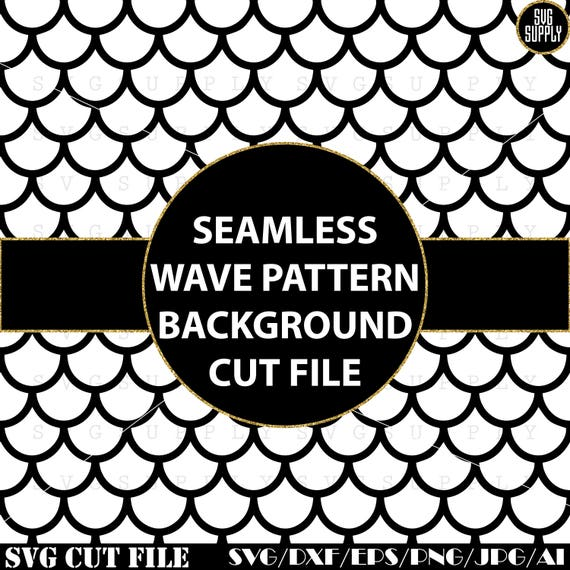 Seamless Wave Pattern Background And Svg Cut File 2 In 1 Etsy