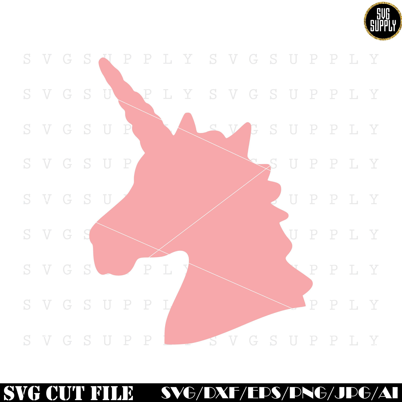 Unicorn Head SVG Unicorn silhouette svg cut file vinyl decal   Etsy