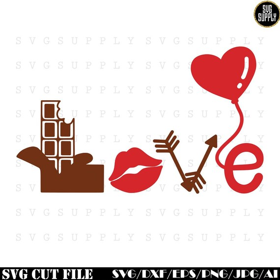 Love Svg Valentines Day Svg Heart Cut File Vinyl Decal For Etsy