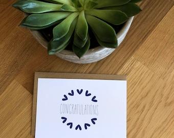 Congratulations cards, Set of Congratulations cards, Congratulations note card