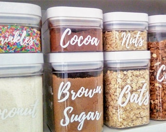 Pantry Labels, DIY, CUSTOM, pantry stickers