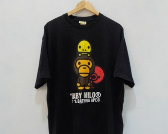 95a1e83d Vintage 90's BAPE A Bathing Ape Baby Milo Tee Shirt Rare!!
