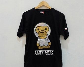 ec48f747 Vintage BABY MILO A Bathing Ape BAPE Tee Shirt Rare!! Vintage Size M