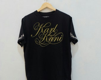 a07be1d21fd4 Vintage KARL KANI Embroidered Logo T-Shirt Size L
