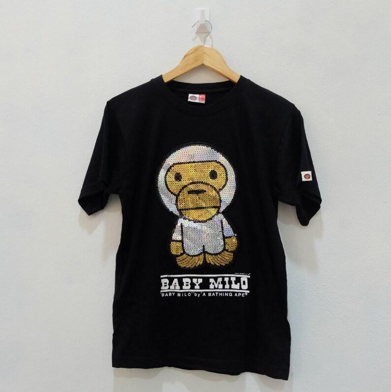 6c53a7481 Vintage BABY MILO A Bathing Ape BAPE Tee Shirt Rare Vintage | Etsy