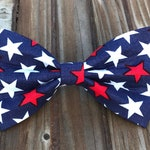 Red White & Blue Stars Dog Bow Tie