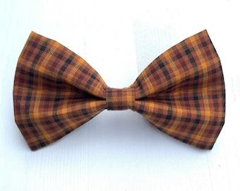 Autumn Plaid Dog Bow Tie Or Girl Bow