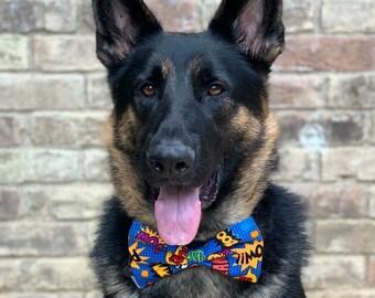 Pop Art Superhero Dog Bow Tie