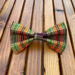 NEW! Autumn Plaid Dog Bow Tie