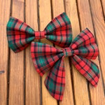 Christmas Tartan Plaid Dog Bow Tie *The Dapper Dog Shop*