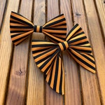 NEW! Halloween Stripes Dog Bow Tie