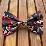 NEW! Thanksgiving Turkey Dog Bow Tie