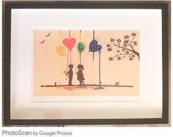 Original Framed Print, limited edition of 'Young Love'