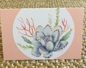 Blank Card Succulents Cactus Greeting Card Floral