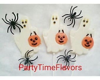Halloween Ghost Chocolate Lollipops