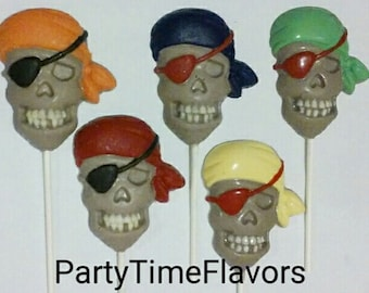 Pirates Chocolate Lollipops