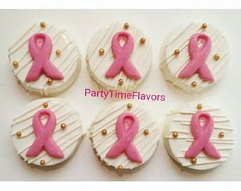Cancer Awareness Chocolate Covered Oreos