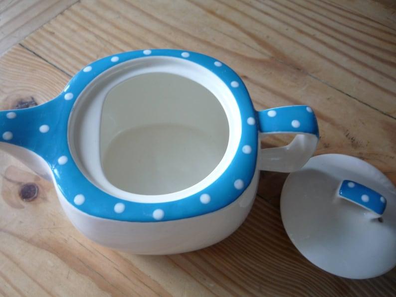 Midwinter Blue Domino Stylecraft Teapot by Jessie Tait