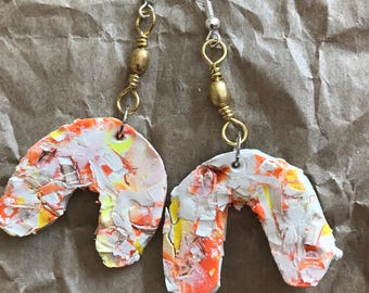 Confetti clay earrings