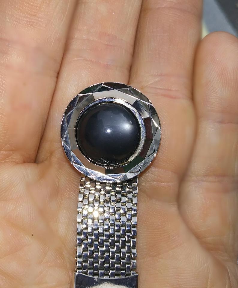Square Cufflinks Wrap Black Metal Crystal Cuff Links