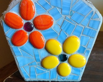 Mosaic Stained Glass garden stone