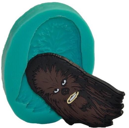Chocolate Chewbacca Www Dunmorecandykitchen Com: Star Wars Chewbacca Head Chewie Inspired Silicone Mould