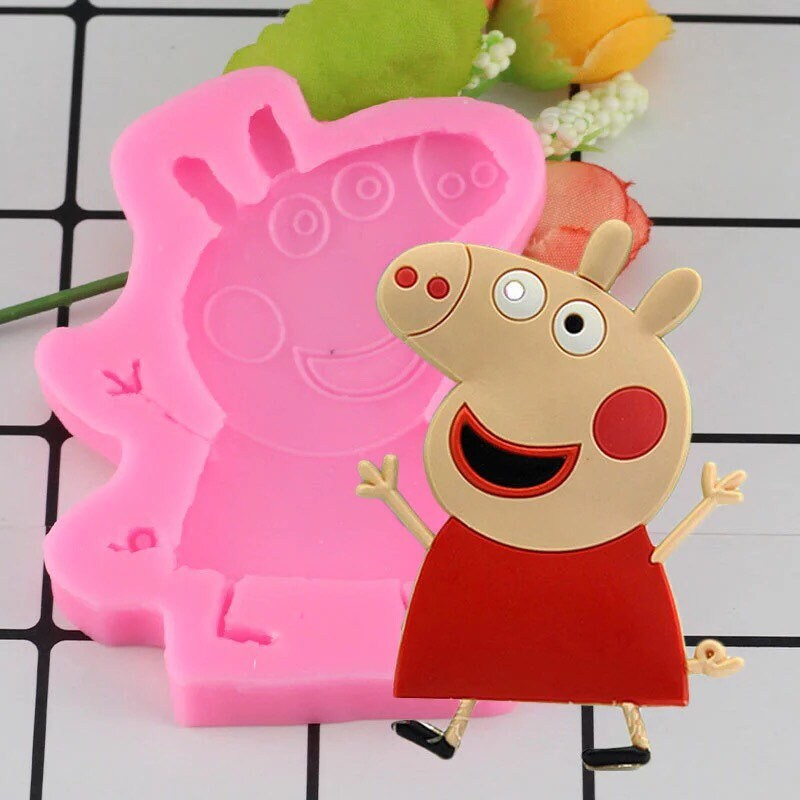 Peppa Pig Silicone Mould Birthday Cake Topper Cup Cakes