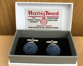 Denim Twill HARRIS TWEED Cufflinks