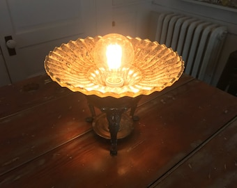 Handmade Accent Lamp From Vintage Salvage