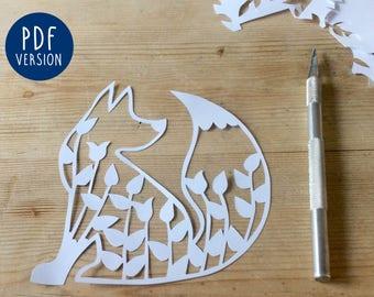 Fox Papercutting Template - PDF Version