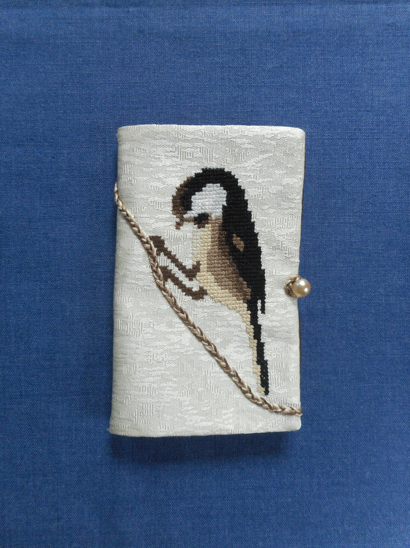 Brodé * de Mésange à l'aiguille livre * porte-aiguilles * Brodé fait à la main c62436