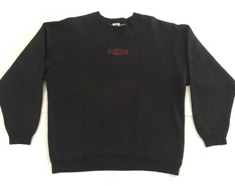 57219173359 Vintage Quiksilver Embroidered Sweatshirt - Quiksilver Internationale Black  Sweatshirt - Size L
