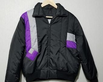 1c8c497405 Vintage 80s Ski Jacket - Wraparound Stripe - Geometric - S - M - L - 1980s  Ski Jacket - 1980s Coat - 80s Coat - 1980s Fashion - Ski Coat