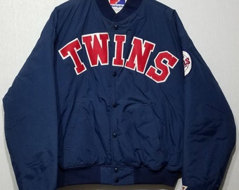 8360e611f4d Vintage 80s 1980s Minnesota Twins Baseball Bomber Swingster Supplex Coat  Jacket - L - MLB - Hip Hop - Sportswear - Baseball