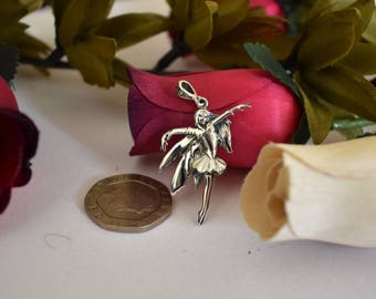 Fairy Pendant, Sterling Silver 925