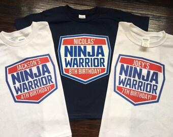eb88da36eae795 American Ninja Warrior 8th Birthday Shirt, American Ninja Warrior Birthday T -Shirt