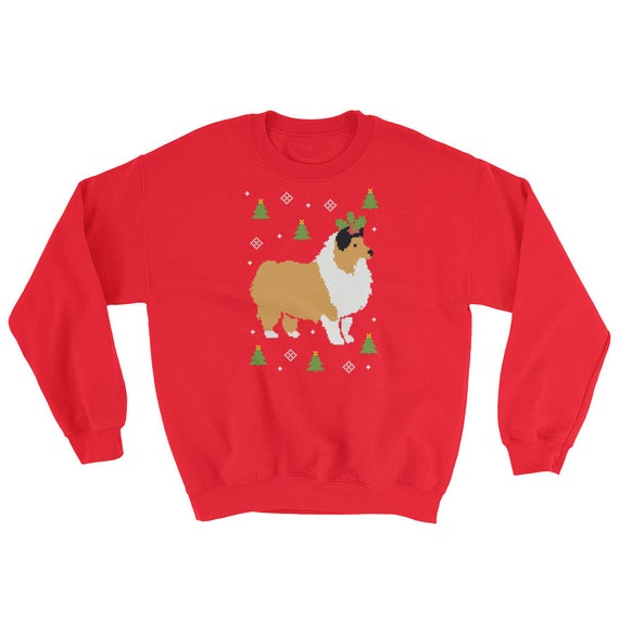 Christmas Sweaters Cute.Collie Ugly Christmas Sweater Cute Christmas Gift For Dog Lovers Funny Collie Dog Sweaters For Women And Men