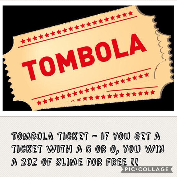 tombola ticket free postage