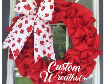 Canada Wreath - Canadian - Patriotic - Canada day