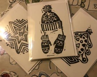 Handmade Christmas cards set of 3