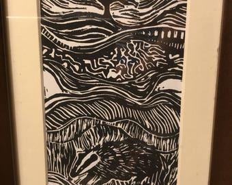 Badger in a field