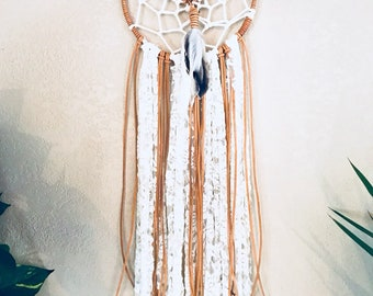 Leather and Lace - Dreamcatcher - Modern Dreamcatcher