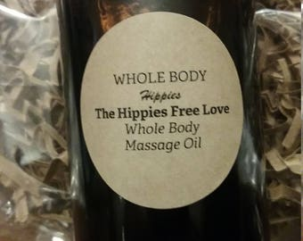 Whole Body Hippies Forever 29 Hippy Free Love Massage Oil Whole Body Skin Care Organic Hemp & Coconut Oil Organic Skin Care Muscle Warming 