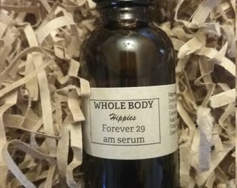 Whole Body Hippies Forever 29 AM Face Serum Anti-Aging Skin Care Organic Natural UV Filters Eczema Anti-inflammatory Preservative Free SPF