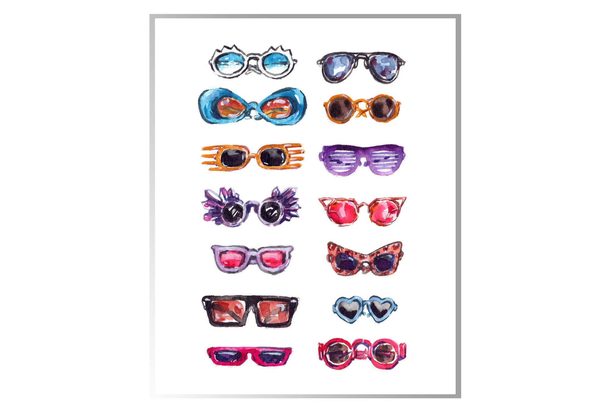 photo relating to Sunglasses Printable referred to as Sungles printable artwork, hues poster, sungles models, example, style print, electronic poster, watercolor artwork, watercolour artwork