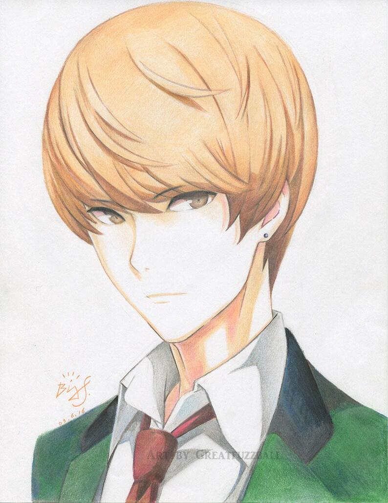 Tasuku senoo original anime print anime art anime etsy
